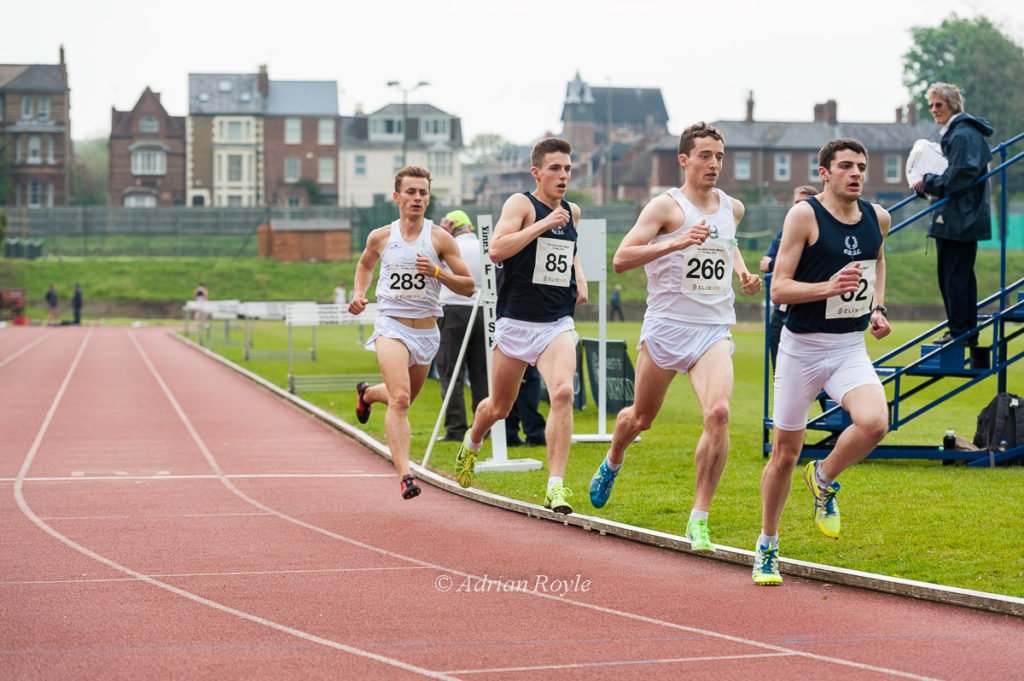 Photograph by Adrian Royle; William Christofi leads the Mile